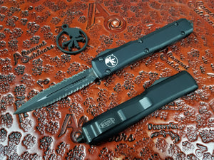 Microtech Ultratech 122-D3T Black Tactical Double Edge Full Serrated both sides (Double Double)
