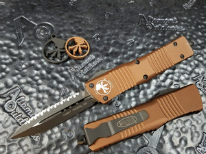 Microtech Combat Troodon D/E Full Serrated Tan 142-3TA
