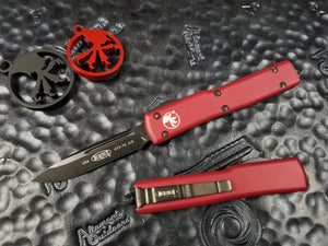 Microtech UTX-70 S/E Red DLC 148-1DLCTRD OTF Automatic OTF