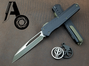 Microtech Cypher MK7 S/E Green blade and hardware 241M-1GRB