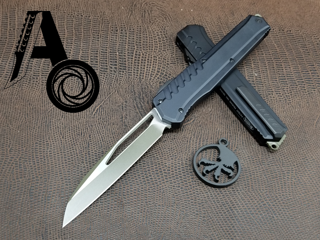 Microtech Cypher MK7 S/E Green blade and Black hardware 241M-1GRBK