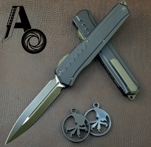 Microtech Cypher MK7 D/E Green blade Green hardware 242M-1GRB