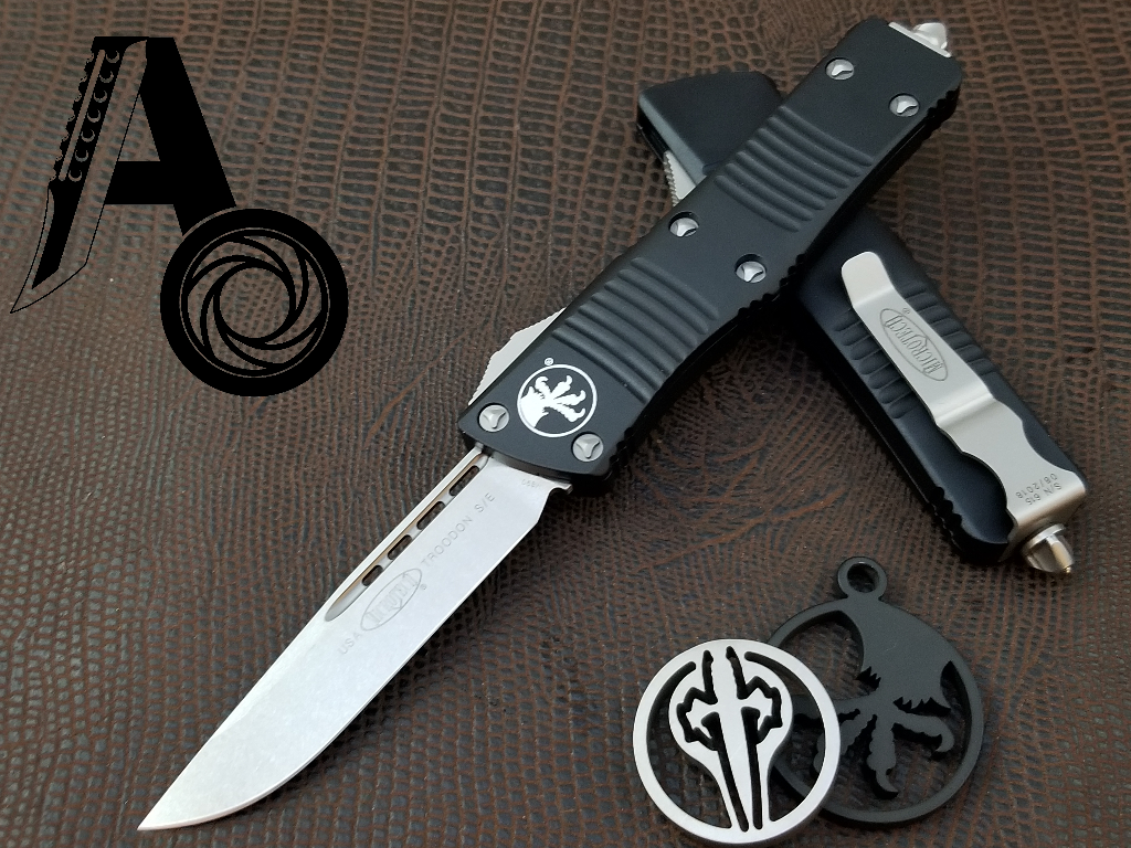 Microtech Troodon S/E OTF Automatic Knife Black Stonewash 139-10