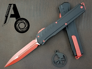 Microtech Cypher MK7 D/E Red blade Red hardware 242M-1RDB