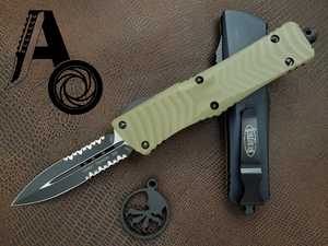 Microtech Combat Troodon D/E Part Serrated 142-2GTOD OD Green G10