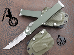 Halo 6 VI Tanto Satin OD Green NO SAFETY with Sheath 250-4OD