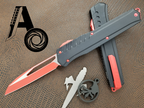 Microtech Cypher MK7 S/E Red blade and hardware 241M-1RDB Wharncliffe