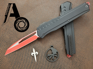 Microtech Cypher MK7 S/E Red blade Black hardware 241M-1RDBK Wharncliffe