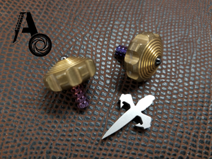 Mini Spin Top Brass with Purple Ti Stem