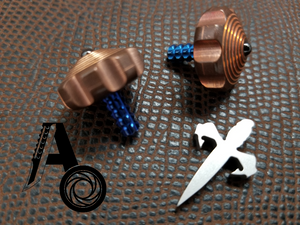 Mini Spin Top Copper with Blue Ti Stem