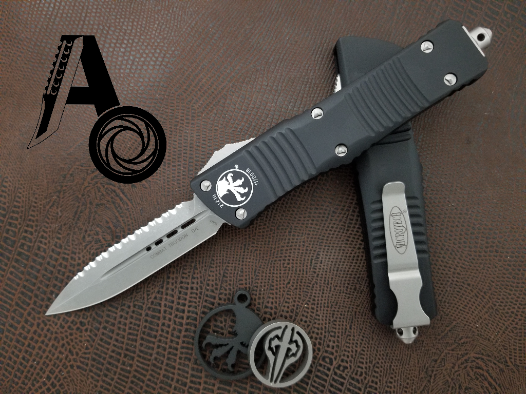 Microtech Combat Troodon D/E Full Serration 142-12AP Apocalyptic