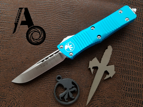 Microtech Troodon S/E OTF Automatic Knife Turquoise Satin 139-4TQ