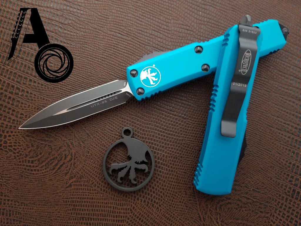 Microtech UTX-85 D/E Turquoise Standard 232-1TQ