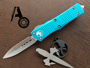 Microtech Troodon D/E Turquoise Satin 138-4TQ
