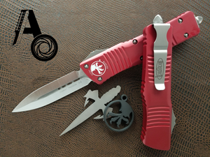 Microtech Combat Troodon D/E Red Satin 142-4RD