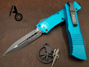 Microtech Combat Troodon Turquoise Standard D/E 142-1TQ