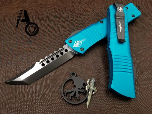 Microtech Combat Troodon HELLHOUND DLC Turquoise 219-1DLCTQ
