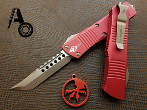 Microtech Troodon Hellhound Red Bronze 619-13RD