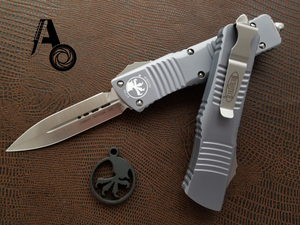 Microtech Combat Troodon Gray Satin Standard D/E 142-4GY
