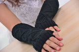 Fashion Ladies Gloves Arm Warmer Long Fingerless Knitting Wool Mittens