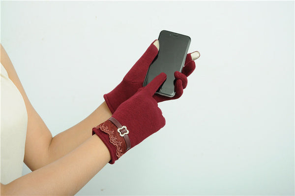 Fashion Screen Gloves Winter Warm Mittens Use Device While Keeping Hands Cosy