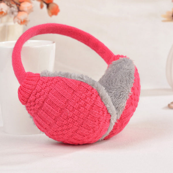 Winter Earmuffs Unisex Soft Cover Knitted Plush Thick Ear Warmers