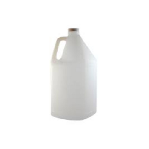 Plastic White Frosted 4 Litre (1 Gallon) Square Jug for Massage Oils, Gels and Lotions