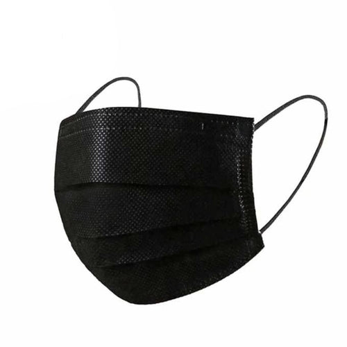 Black Disposable Ear Loop Face Mask