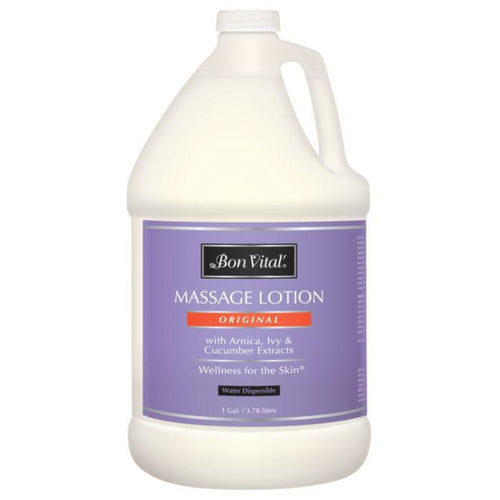 Bon Vital Original Massage Lotion 1 Gallon with Arnica, Ivy and Cucumber Extracts