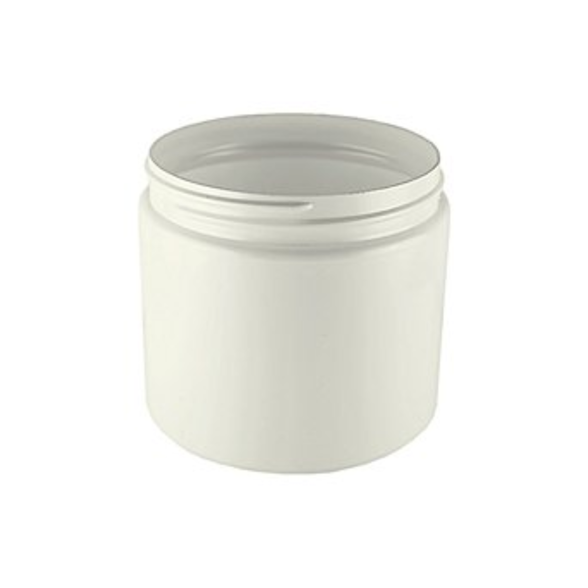 Cream Jar 500 ml White PET BPA Free Plastic Packaging