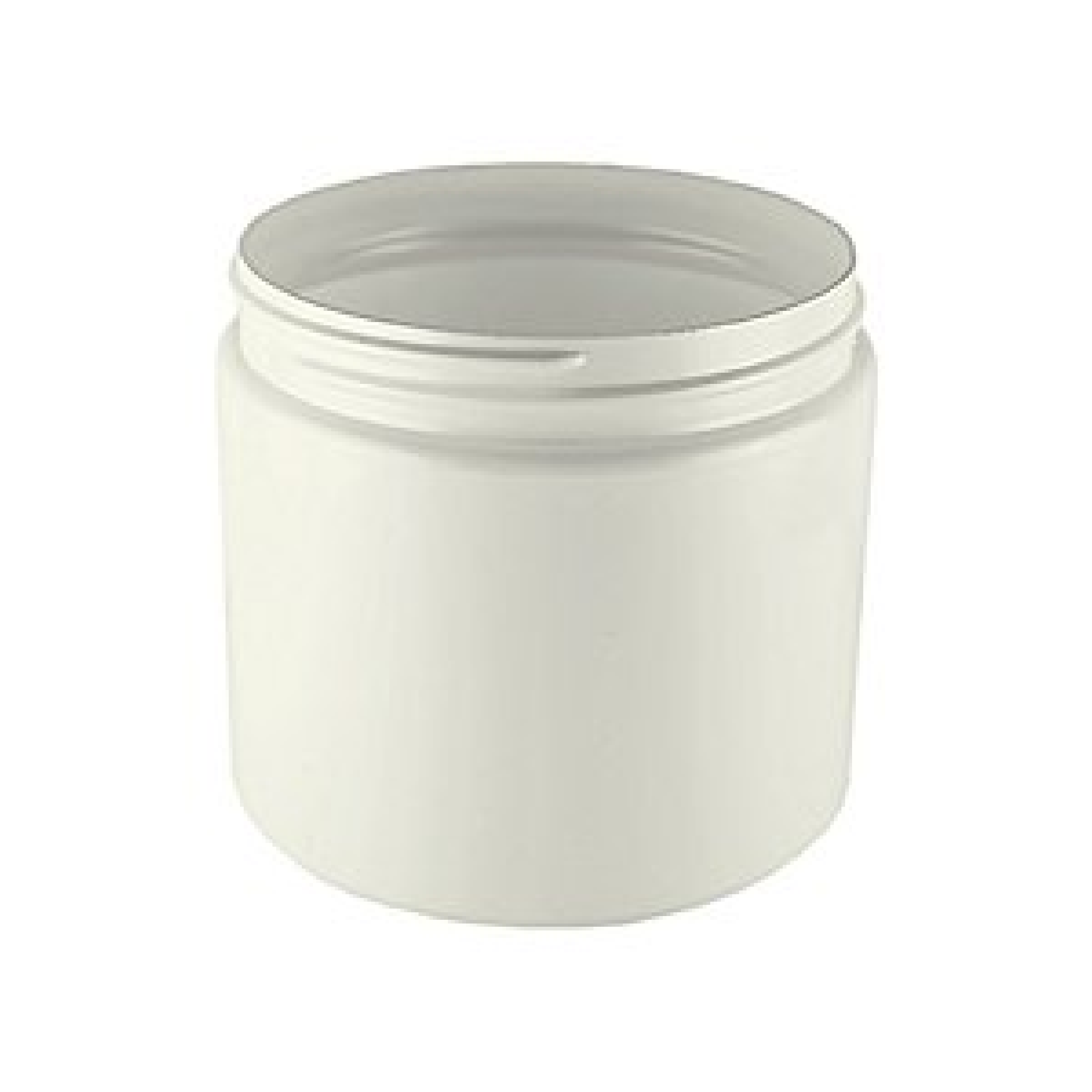 Boston Round Jar White