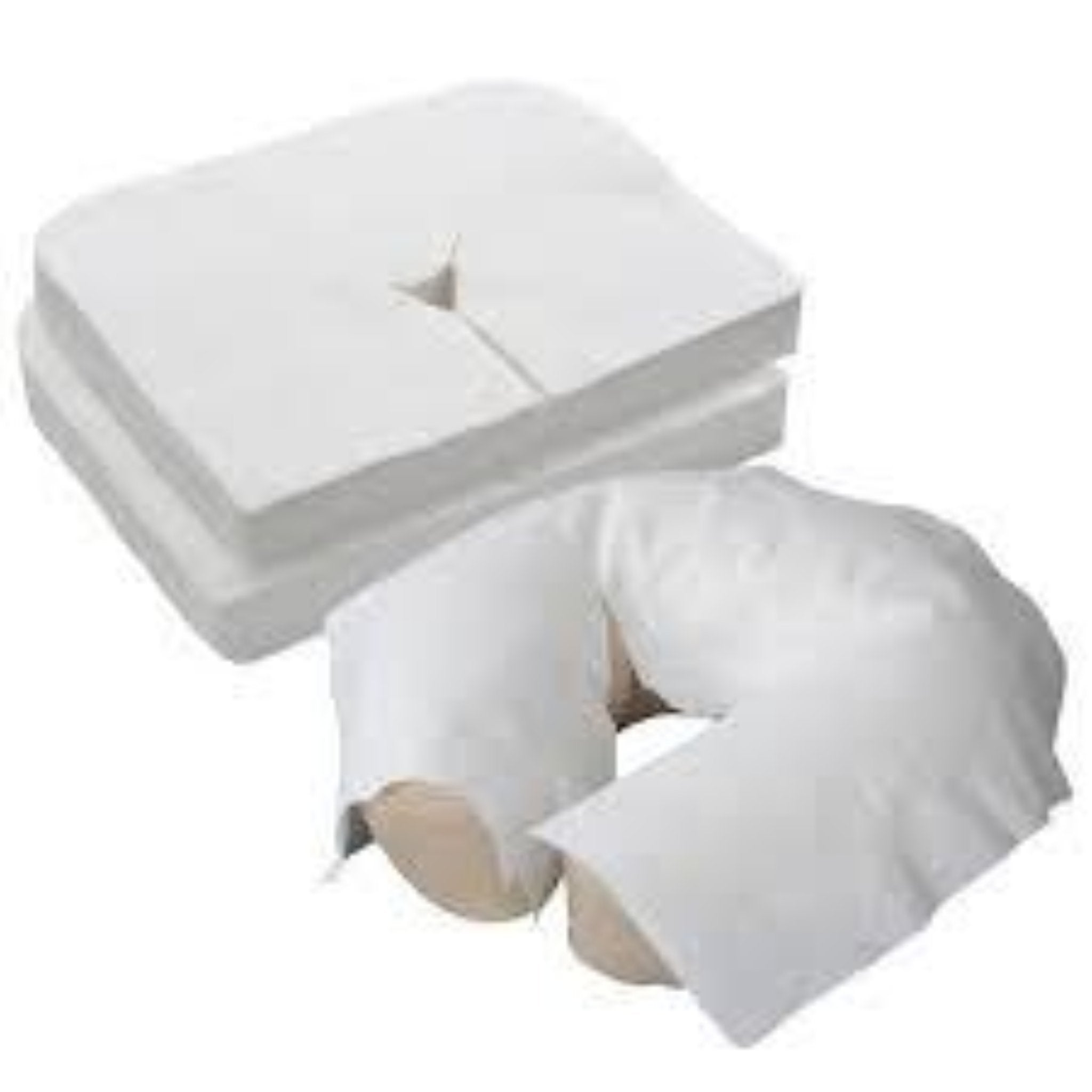 Massage Table Head Rest Cover White Flat Disposable