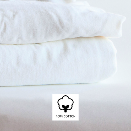White Flannel Sheet 100% Cotton for Massage & Clinic Tables