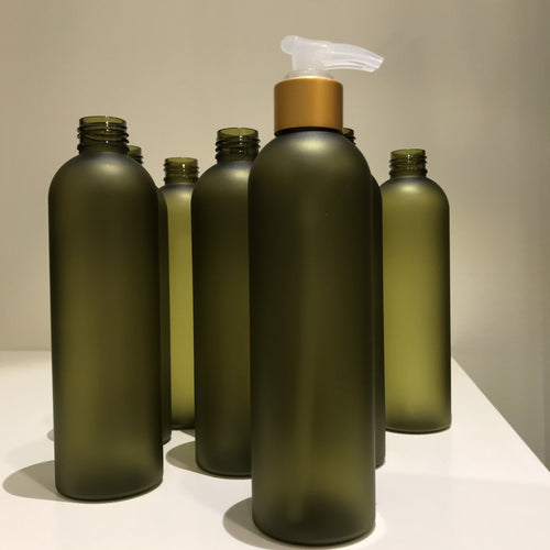 PET Plastic BPA Free Bottle for Massage Oil with Gold Matte Pump