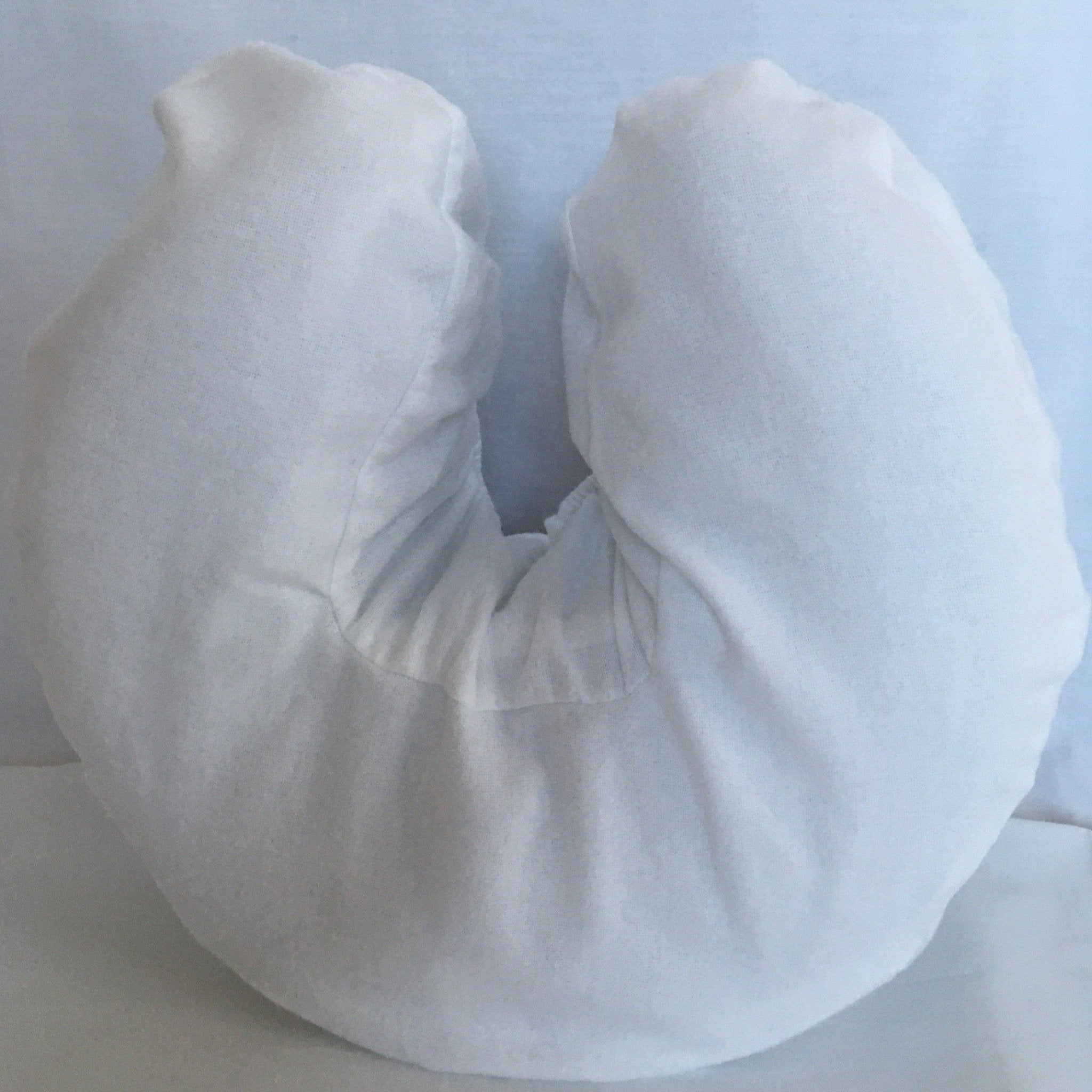 Flannel Fitted Face Rest Cover – White