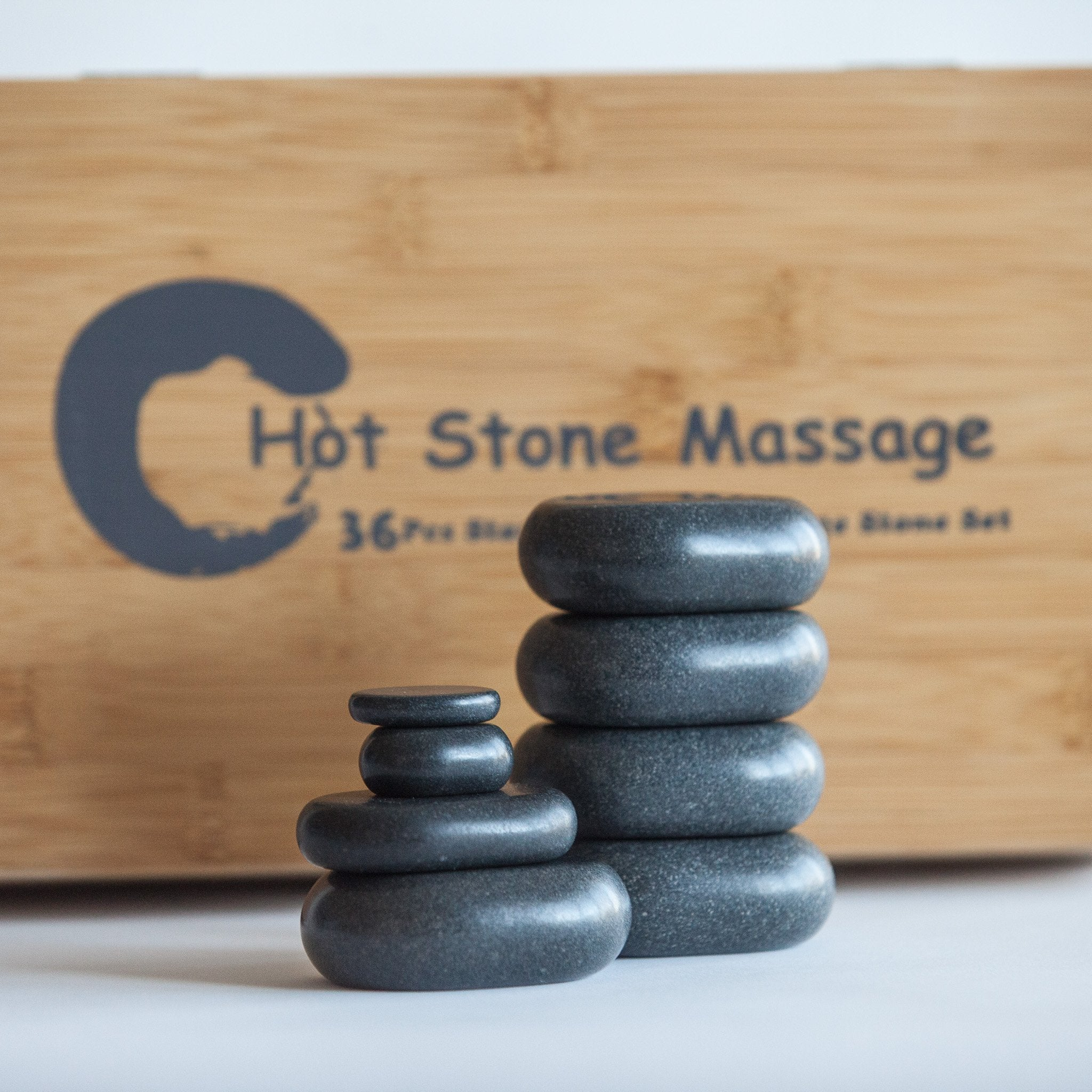 Hot Stone Massage Set – 36 Pieces - Basalt