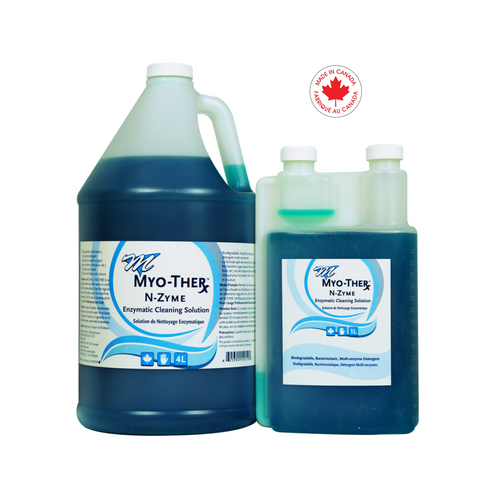 MYO-THER N-Zyme Enzymatic Cleaning Solution formulated for Health Care Linens