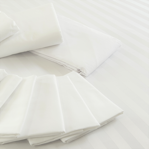 Poly Cotton Pillow Cases for Clinics & Spas White