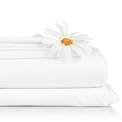 "Cotton Flat Sheet - 66"" x 96"" - White"