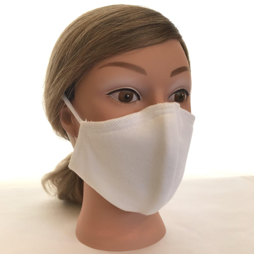 White Washable Ear Loop Face Mask