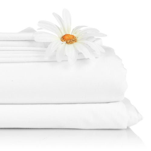 Poly Cotton Flat Sheet – White