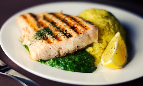 Lemon Garlic Swordfish Steak