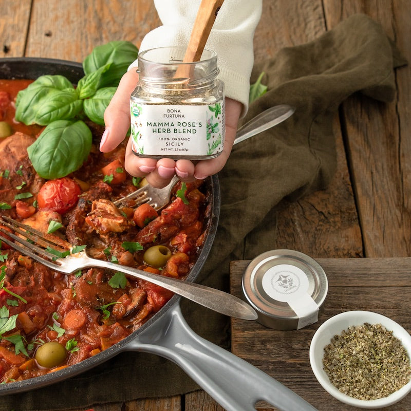 Chicken Cacciatore with Mamma Rose's Herb Blend