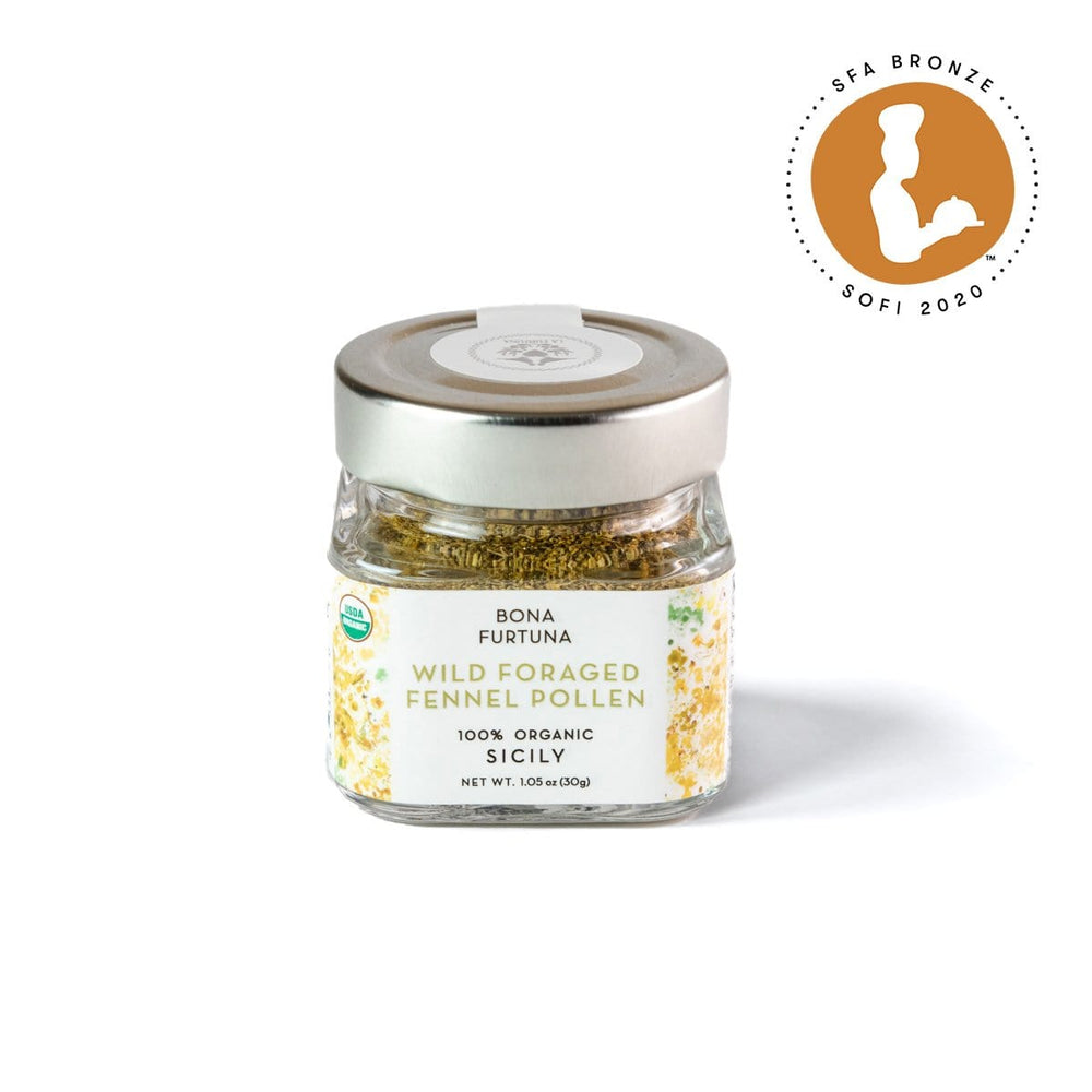 Bona Furtuna Wild Foraged Fennel Pollen - Dried Wild Fennel Pollen Seasoning