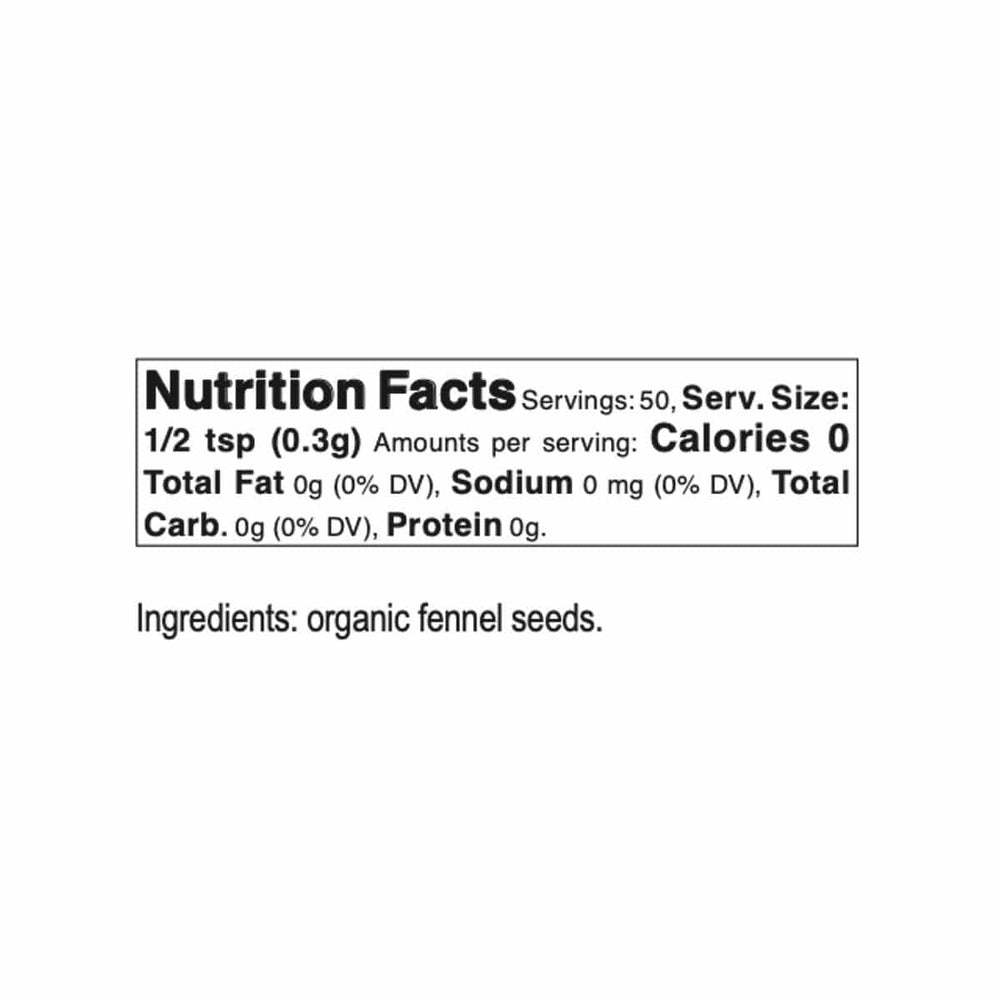Bona Furtuna Wild Foraged Fennel Seed - Nutrition Facts and Ingredients