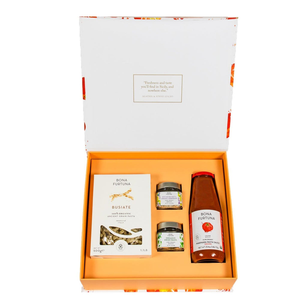 Bona Furtuna Taste of Trapani - Italian cooking pasta gift set