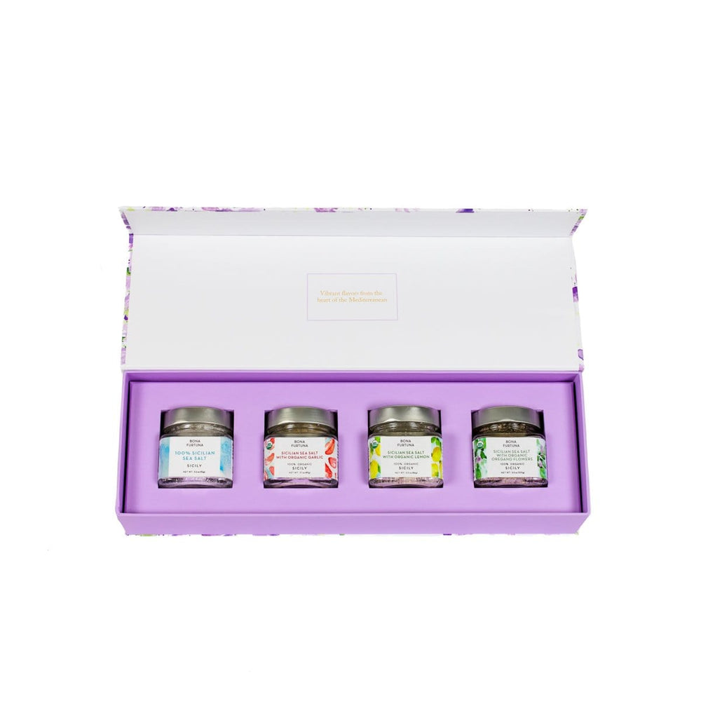 Bona Furtuna Trapani Sea Salt Italian Cooking Gift Set