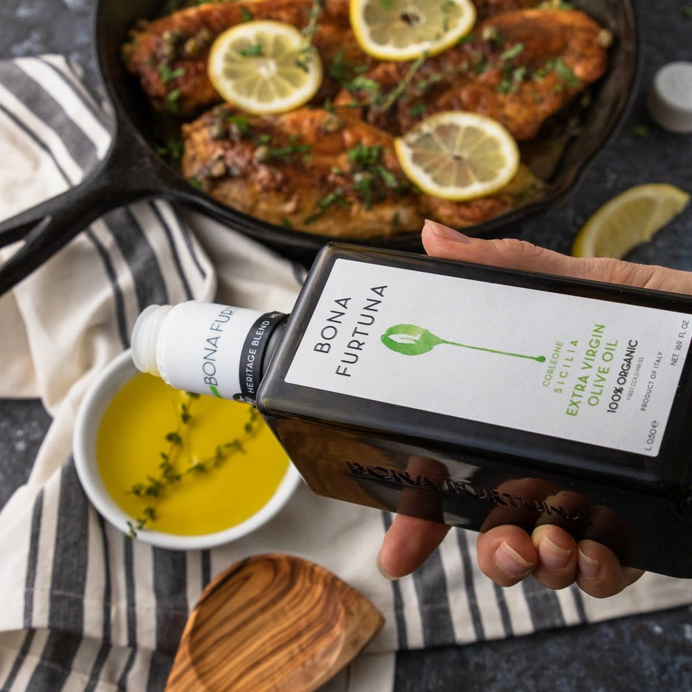 Bona Furtuna Renzo e Lucia - Organic Heritage Blend Extra Virgin Olive Oil with meal