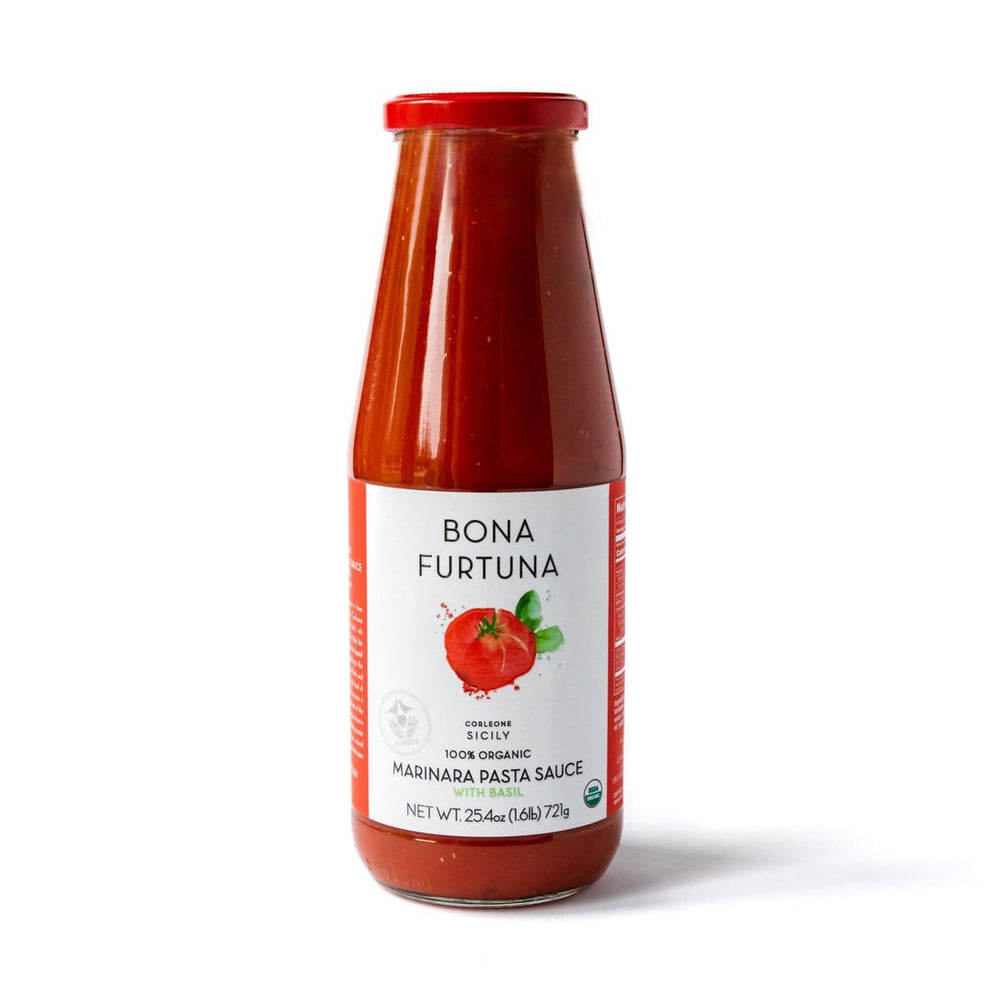 Bona Furtuna Marinara With Basil - Authentic Italian Pasta Sauce with Heirloom Tomatoes