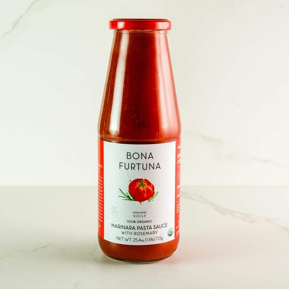 Bona Furtuna Marinara with Fresh Rosemary - Jarred Sicilian Tomato Sauce